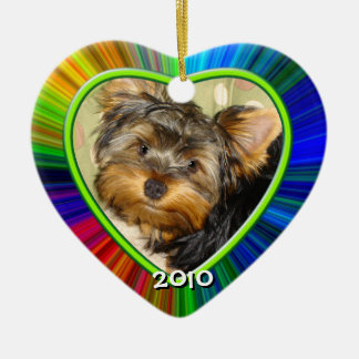 Little Yorkies  First Christmas Ornament