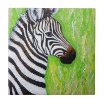 Little Zebra Ceramic Tile