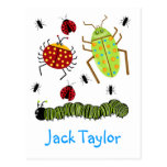 Littlebeane Bugs Insects  Ladybug Ant Caterpillar Postcard