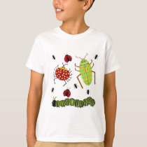 Littlebeane Bugs Insects  Ladybug Ant Caterpillar T-Shirt