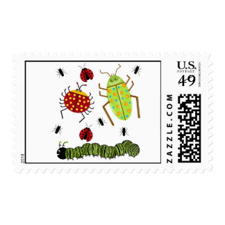 Littlebeane Bugs Postage Stamps
