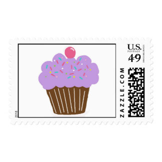Littlebeane Lavender Cupcake Postage Stamps