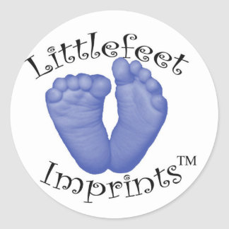 Littlefeet Imprints Classic Round Sticker