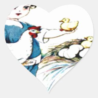 littlegirl.hatching.chicks,chickens.brownhat.png heart sticker