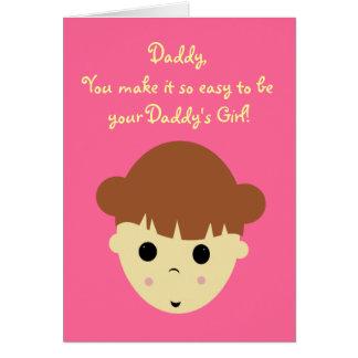 littlegirlbrown, Daddy,You make it so easy to b... Card