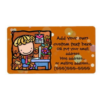 LittleGirlie ama trabajar de hogar - en línea Etiqueta De Envío