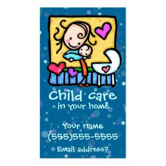LIttleGirlie Babysitter Child Care Custom card BLU Business Cards