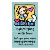 LIttleGirlie Babysitter Child Care Custom card Double-Sided Standard Business Cards (Pack Of 100)