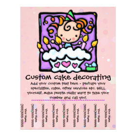 LittleGirlie Cake Decorator tear sheet flyer