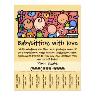 LittleGirlie Child care custom tear-sheet_Gold Flyer
