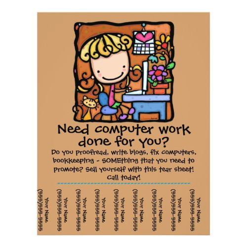 LittleGirlie computer business tear sheet flyer