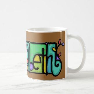 LittleGirlie Custom painted name Elizabeth Cup