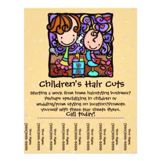 LittleGirlie cuts & styles childrens' hair! TAN Full Color Flyer