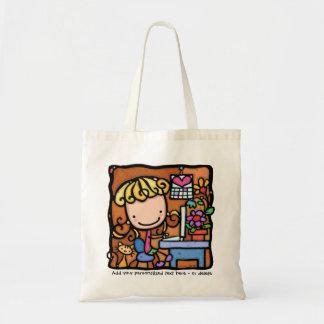 LittleGirlie designer writer bookkeeper cutie TOTE Tote Bag