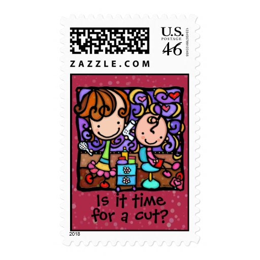 LittleGirlie has a beauty salon business Postage Stamp