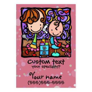 LittleGirlie has a Beauty Salon ROSE business card