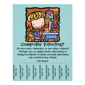 LittleGirlie is a computer tutor! Customize it Flyer