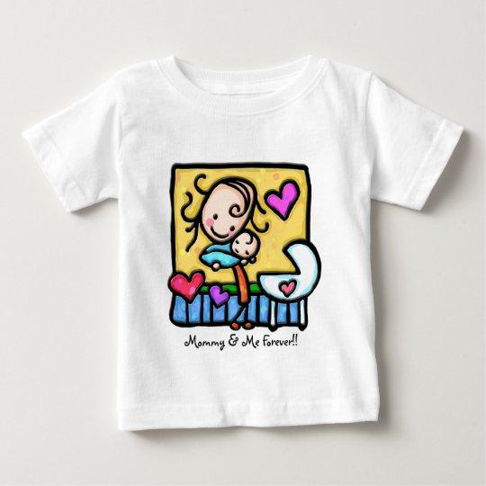 LittleGirlie loves her baby! Baby T-Shirt