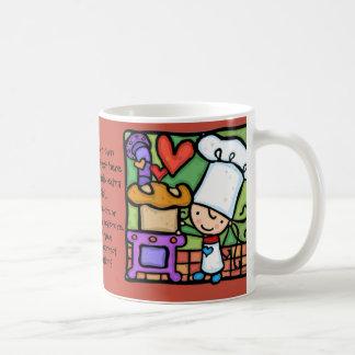 LittleGirlie loves to bake artisan bread bakery Classic White Coffee Mug