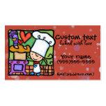 LittleGirlie loves to bake fresh bread Dk Rust Business Card Template