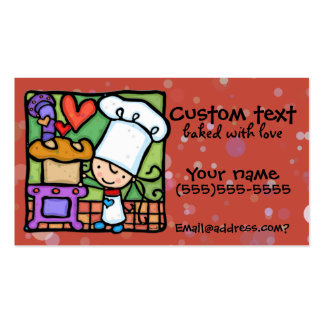 LittleGirlie loves to bake fresh bread Dk Rust Double-Sided Standard Business Cards (Pack Of 100)
