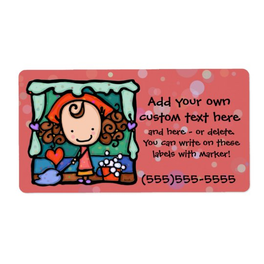 LittleGirlie loves to clean house! ROSE Label