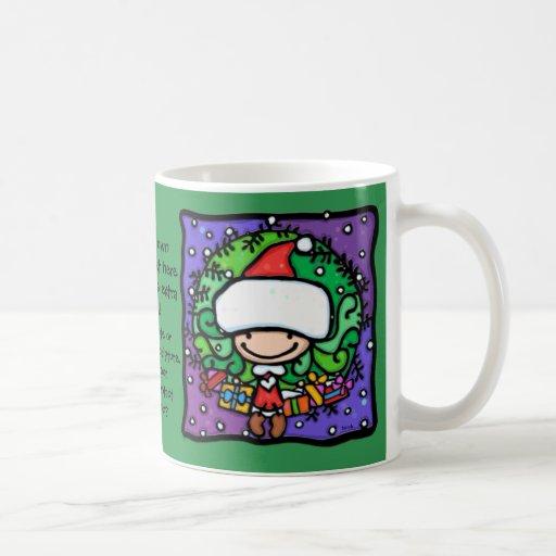 LittleGirlie loves to play Santa's helper GRN Coffee Mug