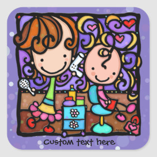 LittleGirlie plays Hair Stylist PURPLE sticker