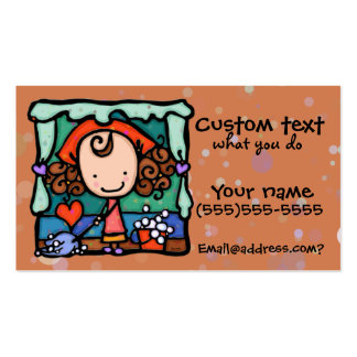 LittleGirlie promotes her cleaning business! RUST Double-Sided Standard Business Cards (Pack Of 100)
