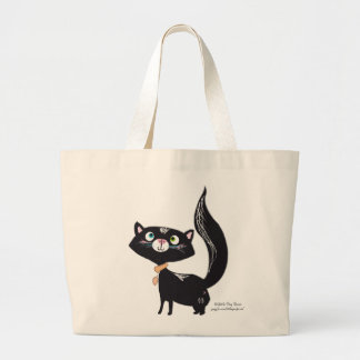 LittlePixyBoots - *Blacky* Kitty Cat Tote Bags