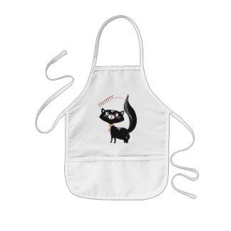 LittlePixyBoots - gato del gatito del *Blacky* Delantales