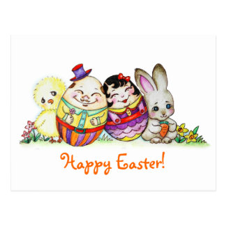 LittlePixyBoots - Happy Easter and Always Post Cards