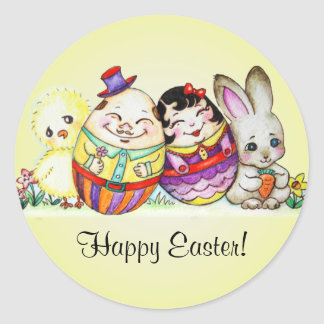 LittlePixyBoots - Happy Easter and Always Round Sticker