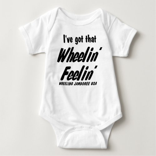 Littlest Country Music Fans Wheelin Feelin T Baby Bodysuit