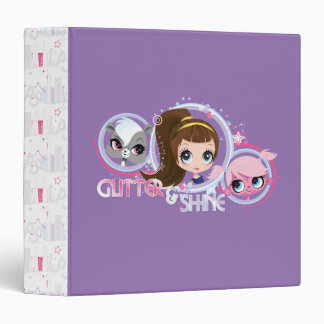 Littlest Pets: Glitter and Shine 3 Ring Binder
