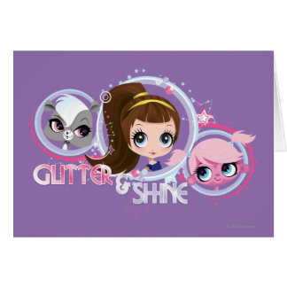 Littlest Pets: Glitter and Shine Greeting Card