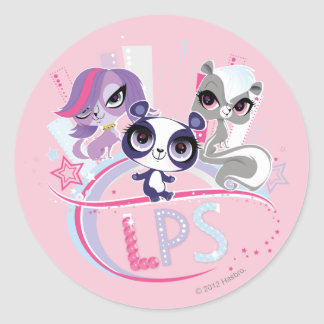 Littlest Pets in the Big City 1 Classic Round Sticker