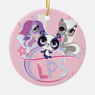 Littlest Pets in the Big City 1 Double-Sided Ceramic Round Christmas Ornament
