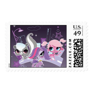 Littlest Pets in the Big City 2 Postage Stamps