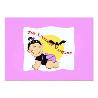Littlest Pirate Girl Invitations/Cards 5x7 Paper Invitation Card