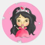 Littlest princess classic round sticker