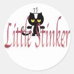 littlestinker.skunk classic round sticker