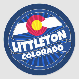 Littleton Colorado flag burst stickers