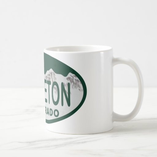 Littleton license oval classic white coffee mug