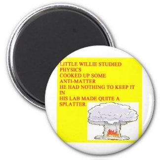 LITTLEWILLIE physics poem 2 Inch Round Magnet