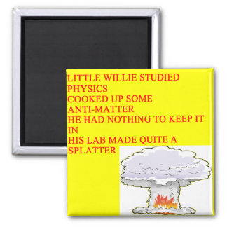 LITTLEWILLIE physics poem 2 Inch Square Magnet