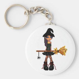littlewitch basic round button keychain
