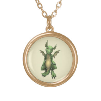 Littlle Dragon Gold Plated Necklace