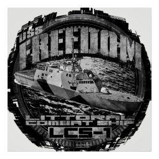 Littoral combat ship Freedom Poster