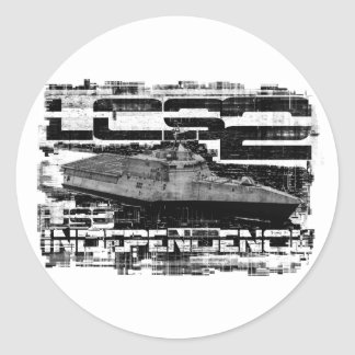 Littoral combat ship Independence Template WT Cla Classic Round Sticker